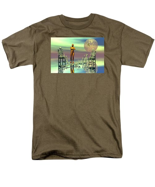 Men's T-Shirt  (Regular Fit) featuring the digital art Women Waiting For The Perfect Man by Claude McCoy