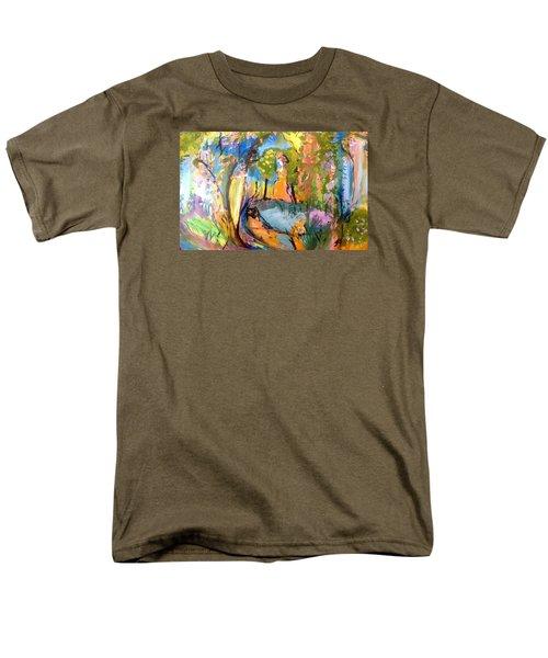 Wondering In The Garden Men's T-Shirt  (Regular Fit) by Judith Desrosiers