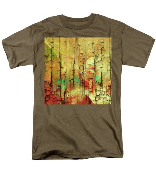 Men's T-Shirt  (Regular Fit) featuring the digital art Wood Abstract by Deborah Benoit