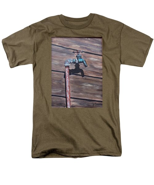 Men's T-Shirt  (Regular Fit) featuring the painting Wood And Metal by Natalia Tejera