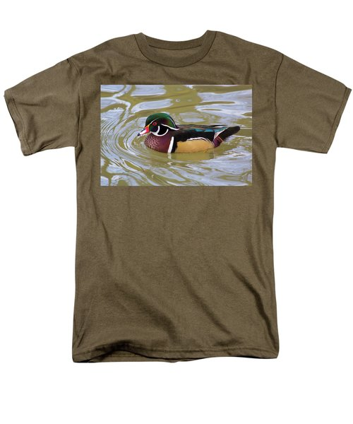 Wood Duck Men's T-Shirt  (Regular Fit) by David Stasiak
