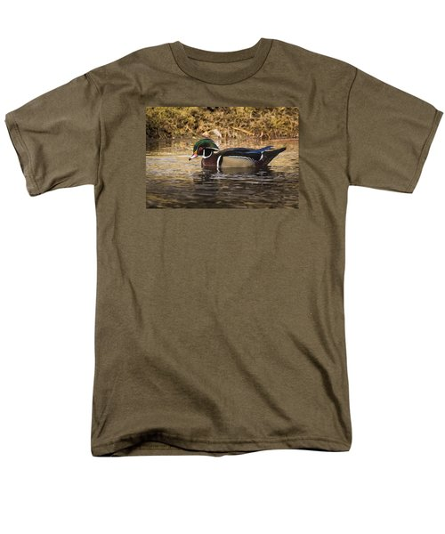 Men's T-Shirt  (Regular Fit) featuring the photograph Wood Duck by Janis Knight