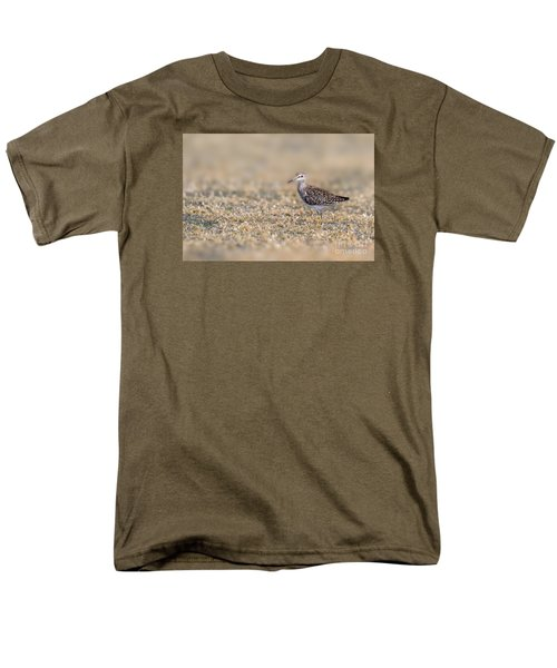 Men's T-Shirt  (Regular Fit) featuring the photograph Wood Sandpiper by Jivko Nakev