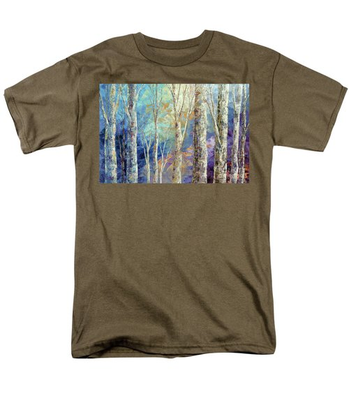 Men's T-Shirt  (Regular Fit) featuring the painting Woodland Breezes by Tatiana Iliina