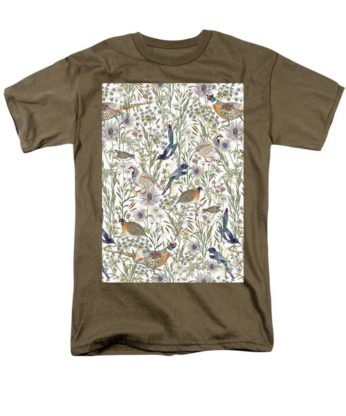 Woodland Edge Birds Men's T-Shirt  (Regular Fit)