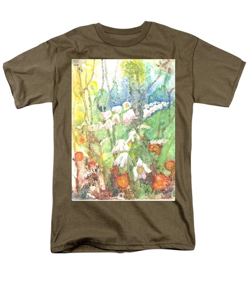 Men's T-Shirt  (Regular Fit) featuring the painting Woodland Garden by Renate Nadi Wesley