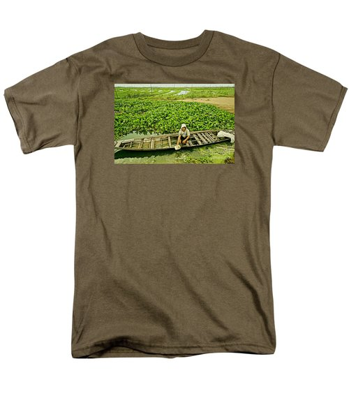 Men's T-Shirt  (Regular Fit) featuring the photograph Work Hard With Smile by Arik S Mintorogo