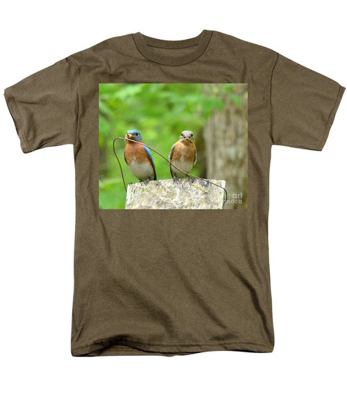 Working Couple Men's T-Shirt  (Regular Fit) by Rand Herron