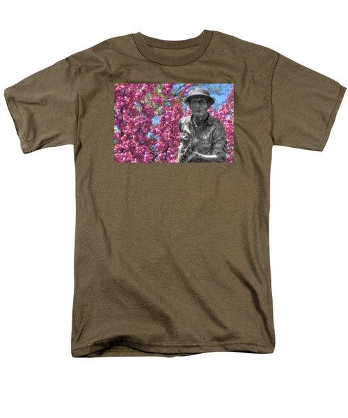 Men's T-Shirt  (Regular Fit) featuring the photograph World War I Buddy Monument Statue by Shelley Neff
