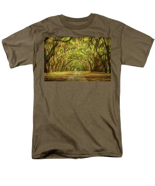 Wormsloe Plantation Oaks Men's T-Shirt  (Regular Fit) by Priscilla Burgers
