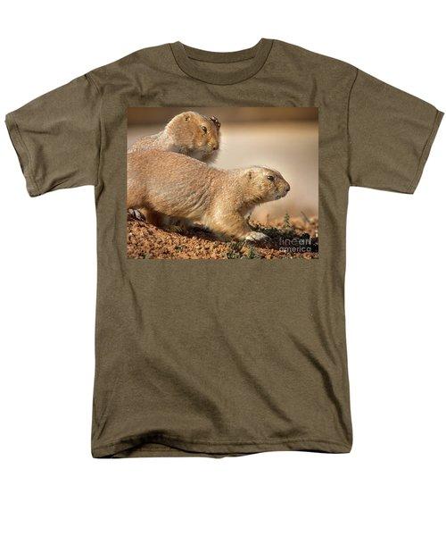 Men's T-Shirt  (Regular Fit) featuring the photograph Worried Prairie Dog by Robert Frederick