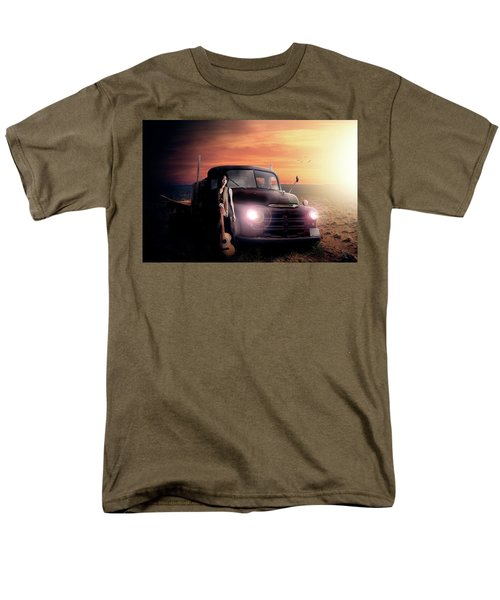 Men's T-Shirt  (Regular Fit) featuring the digital art Wrecked  by Nathan Wright