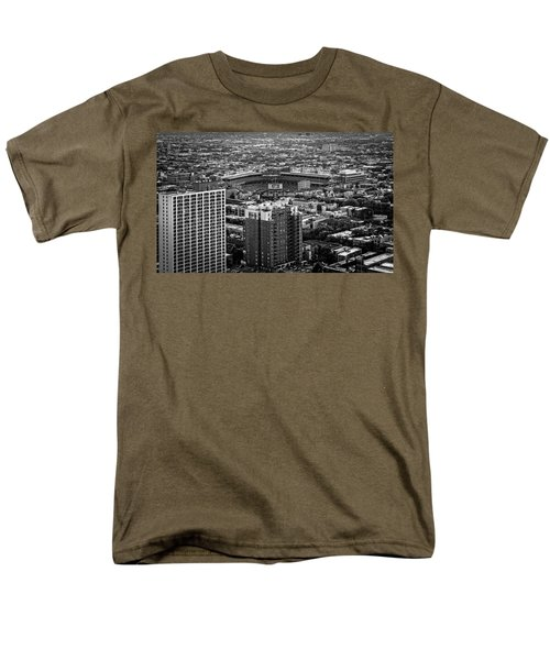 Wrigley Field Park Place Towers Day Bw Dsc4575 Men's T-Shirt  (Regular Fit) by Raymond Kunst