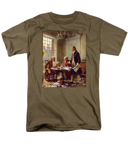 Writing The Declaration Of Independence, 1776, Men's T-Shirt  (Regular Fit) by Leon Gerome Ferris