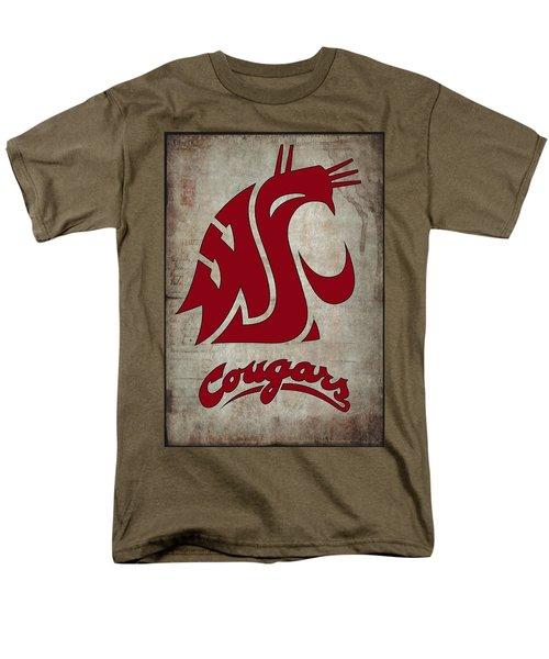 W S U Cougars Men's T-Shirt  (Regular Fit) by Daniel Hagerman