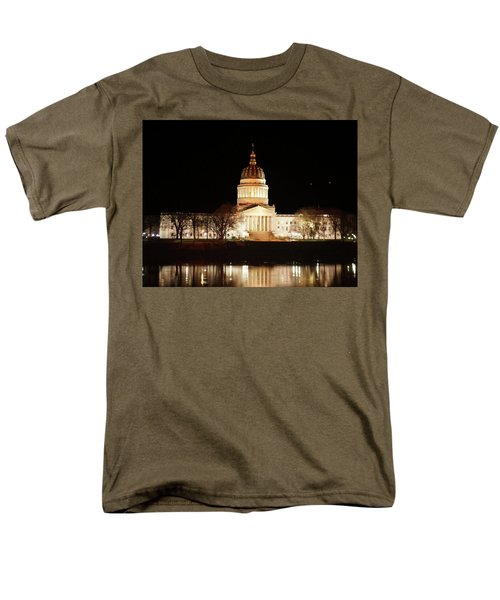 Men's T-Shirt  (Regular Fit) featuring the photograph Wv Capital Building by B Wayne Mullins
