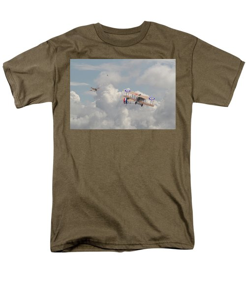 Men's T-Shirt  (Regular Fit) featuring the photograph Ww1 - The Fokker Scourge - Eindecker by Pat Speirs