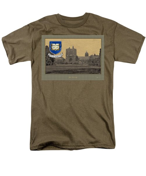 Yale University Building With Crest Men's T-Shirt  (Regular Fit) by Serge Averbukh