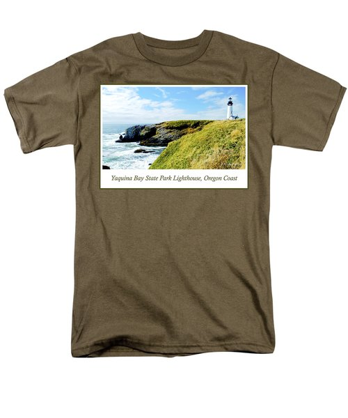 Men's T-Shirt  (Regular Fit) featuring the photograph Yaquina Bay Lighthouse Oregon by A Gurmankin