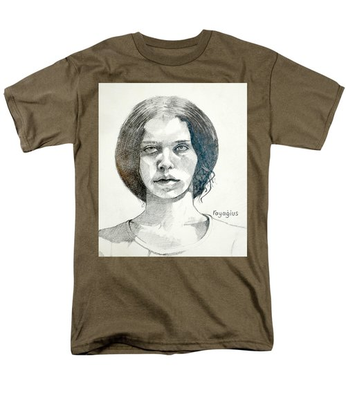 Men's T-Shirt  (Regular Fit) featuring the drawing Yelena by Ray Agius