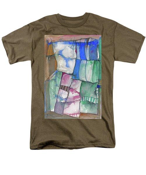 Yellow Awning Men's T-Shirt  (Regular Fit) by Sandra Church