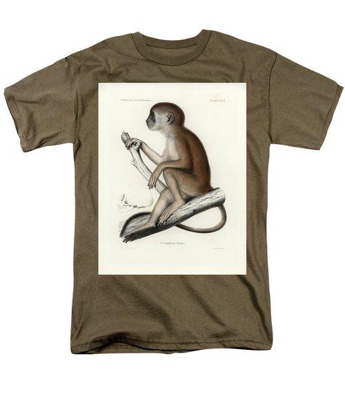 Yellow Baboon, Papio Cynocephalus Men's T-Shirt  (Regular Fit) by J D L Franz Wagner