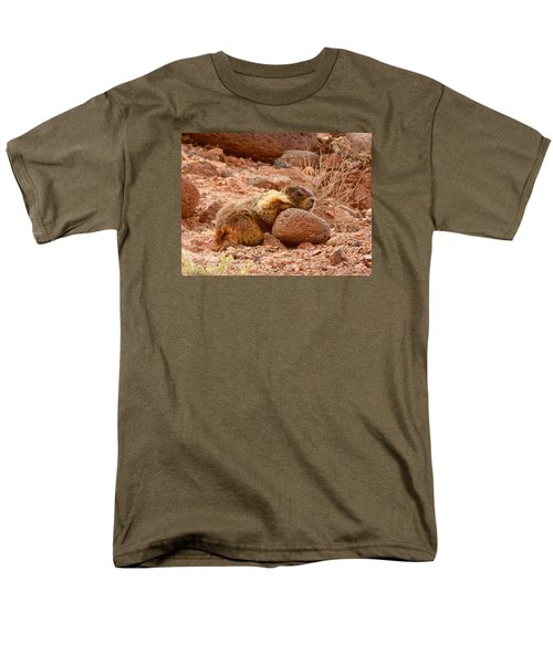 Men's T-Shirt  (Regular Fit) featuring the photograph Yellow Bellied Marmot Capitol Reef Utah by Deborah Moen