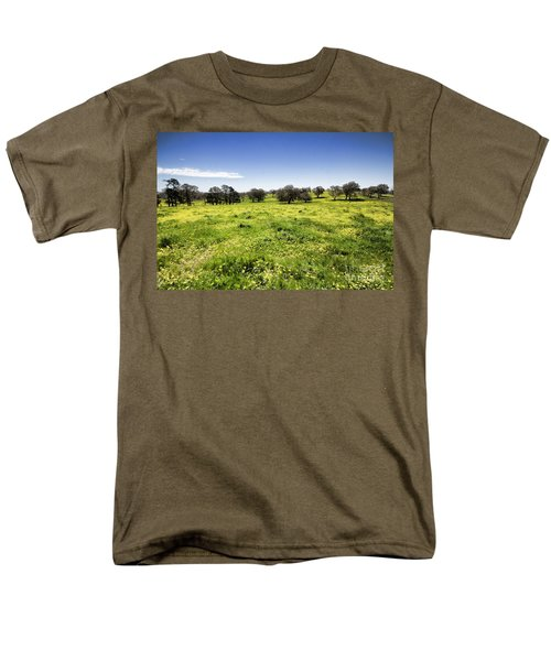 Men's T-Shirt  (Regular Fit) featuring the photograph Yellow Blanket by Douglas Barnard