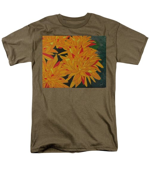 Men's T-Shirt  (Regular Fit) featuring the painting Yellow Chrysanthemums by Hilda and Jose Garrancho