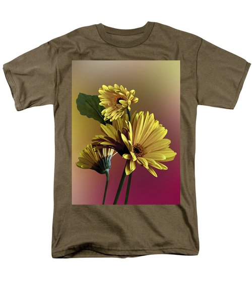 Men's T-Shirt  (Regular Fit) featuring the photograph Yellow Daisy Trio by Judy  Johnson