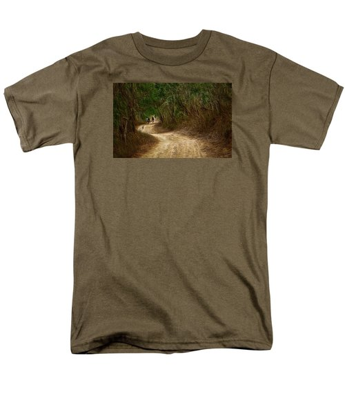 Men's T-Shirt  (Regular Fit) featuring the photograph Yellow Dust Road by Cameron Wood