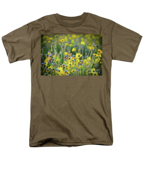 Yellow Flowers Men's T-Shirt  (Regular Fit) by Kelly Wade