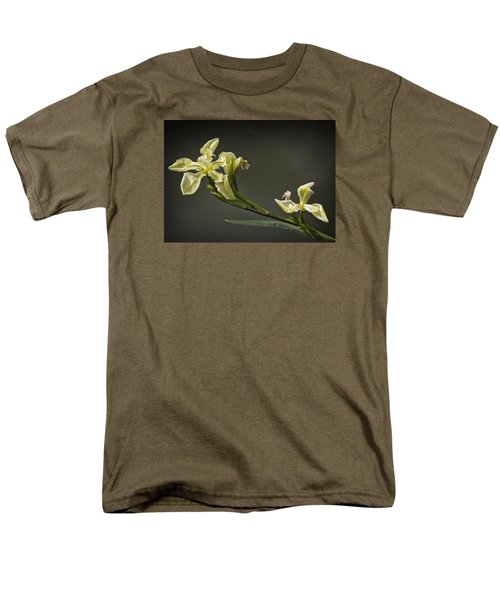 Men's T-Shirt  (Regular Fit) featuring the photograph Yellow Iris by Shirley Mitchell