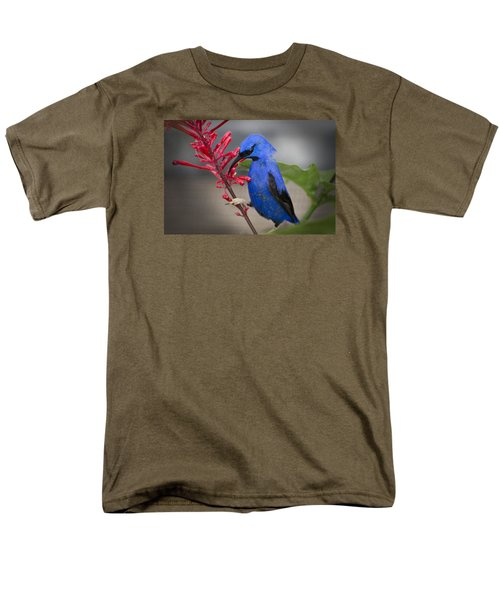 Men's T-Shirt  (Regular Fit) featuring the photograph Yellow Legged Honey Creeper by Penny Lisowski
