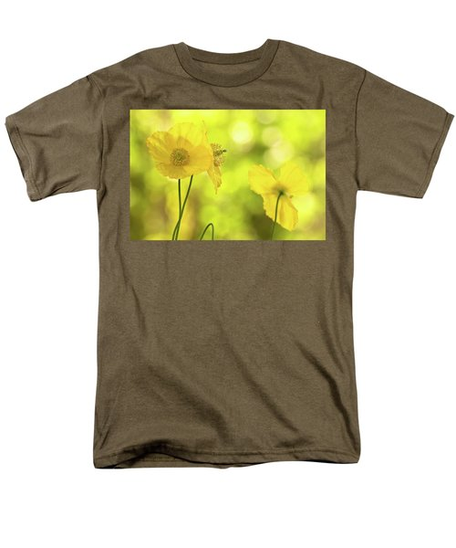 Men's T-Shirt  (Regular Fit) featuring the photograph Yellow Poppies - California Poppy Flower by Peggy Collins