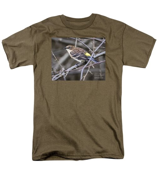 Men's T-Shirt  (Regular Fit) featuring the photograph Yellow-rumped Warber In Fall Colors by Ricky L Jones
