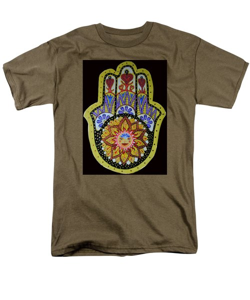 Men's T-Shirt  (Regular Fit) featuring the painting Yellow Sun by Patricia Arroyo