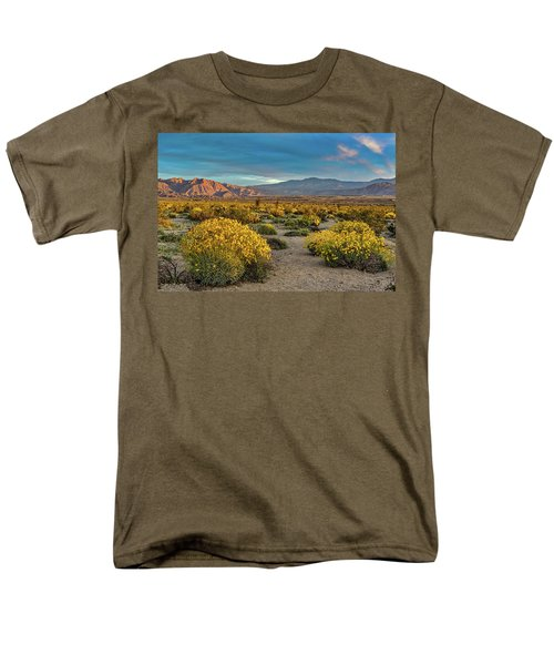 Men's T-Shirt  (Regular Fit) featuring the photograph Yellow Sunrise by Peter Tellone