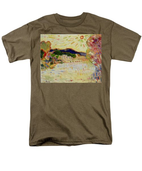 Beynac Et Cazenac , Dordogne , Yellow Sunshine  Men's T-Shirt  (Regular Fit) by Pierre Van Dijk