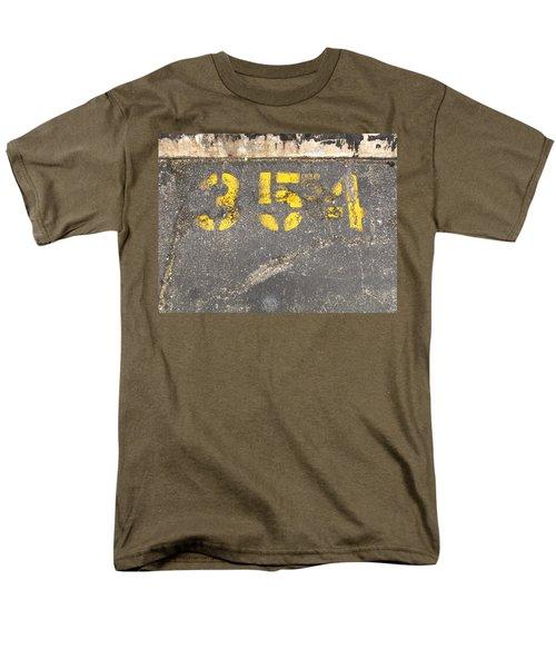 Yellow Three Five Five Four Men's T-Shirt  (Regular Fit)