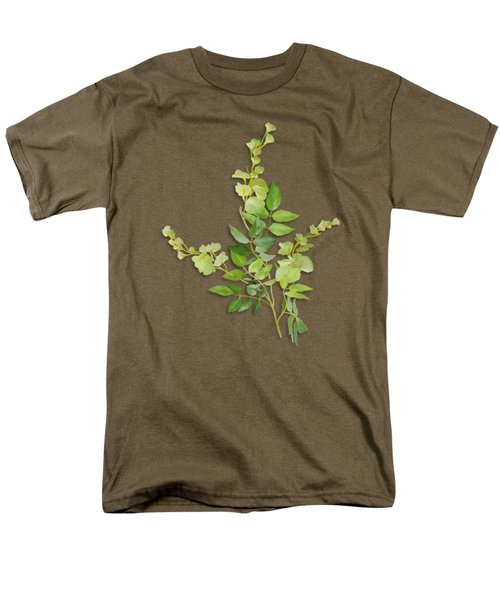 Yellow Tiny Flowers Men's T-Shirt  (Regular Fit) by Ivana Westin