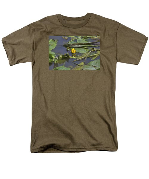 Men's T-Shirt  (Regular Fit) featuring the photograph Yellow Waterlilly 2015 by Leif Sohlman