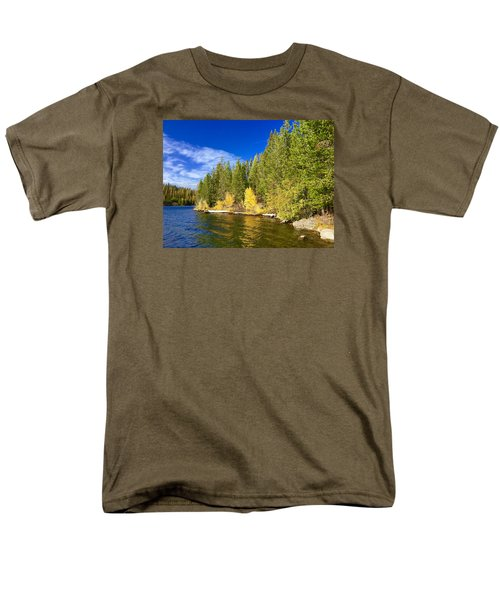 Golden Waters Men's T-Shirt  (Regular Fit) by Jennifer Lake