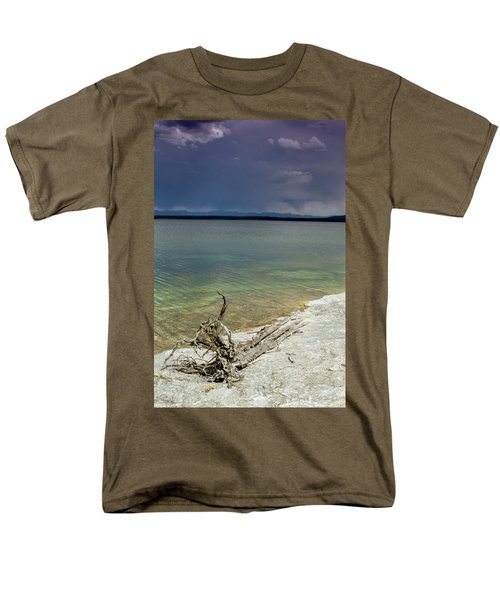 Men's T-Shirt  (Regular Fit) featuring the photograph Yellowstone Lake by Dawn Romine