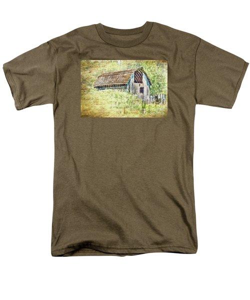Men's T-Shirt  (Regular Fit) featuring the photograph Yesteryear Barn by Jean OKeeffe Macro Abundance Art
