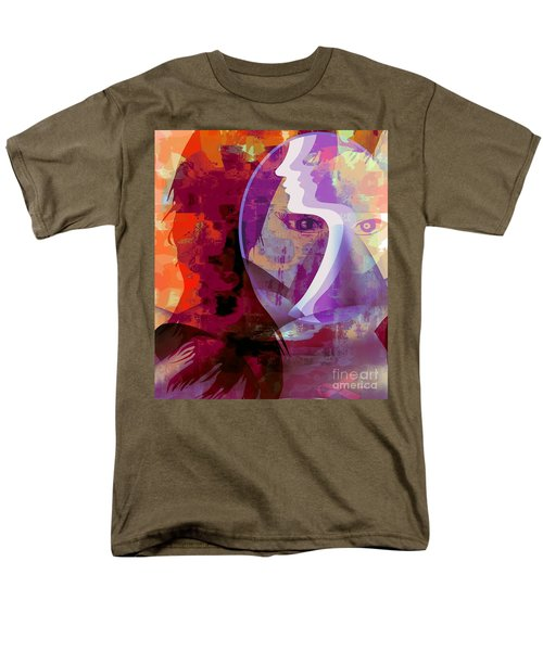 Men's T-Shirt  (Regular Fit) featuring the mixed media You Can Beat It by Fania Simon