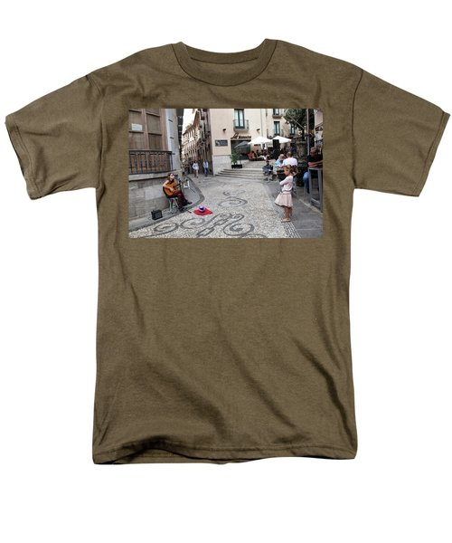 Men's T-Shirt  (Regular Fit) featuring the photograph Young Girl Listening To Guitar - Grenada - Spain by Madeline Ellis