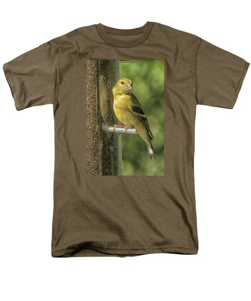 Men's T-Shirt  (Regular Fit) featuring the photograph Young Goldfinch by Constantine Gregory
