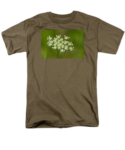 Men's T-Shirt  (Regular Fit) featuring the photograph Young Queen Anne's Lace  by Lyle Crump