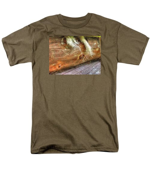 Men's T-Shirt  (Regular Fit) featuring the pyrography Yury Bashkin Rustic Wall by Yury Bashkin